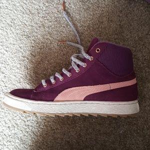 Purple Suede Pumas